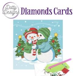 (DDDC1003)Dotty Designs Diamonds Cards - Two Snowmen
