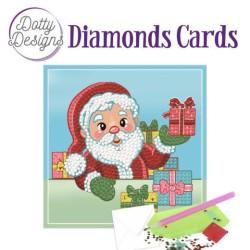 (DDDC1004)Dotty Designs Diamonds Cards - Santa