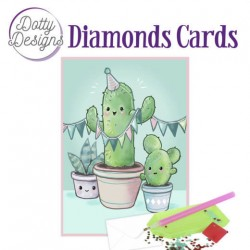 (DDDC1019)Dotty Designs Diamond Cards - Cactus