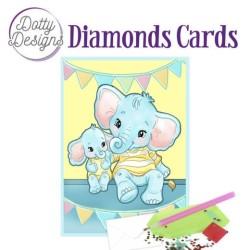 (DDDC1024)Dotty Designs Diamond Cards - Elephants