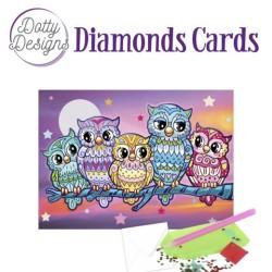 (DDDC1026)Dotty Designs Diamond Cards - Kitschy Owls