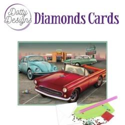 (DDDC1028)Dotty Designs Diamond Cards - Vintage Cars