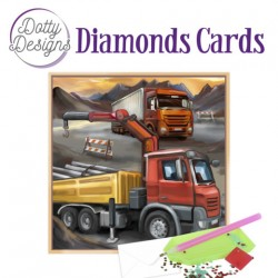 (DDDC1030)Dotty Designs Diamond Cards - Vintage Truck