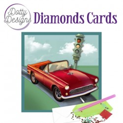 (DDDC1032)Dotty Designs Diamond Cards - Vintage Red Car