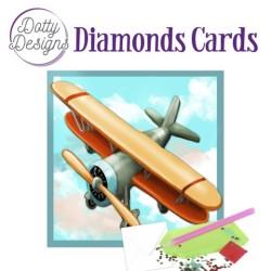 (DDDC1033)Dotty Designs Diamond Cards - Vintage Biplane