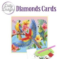 (DDDC1034)Dotty Designs Diamond Cards - Parrots