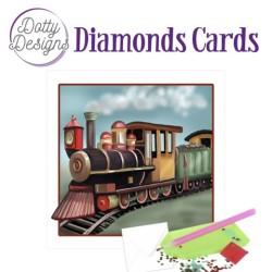 (DDDC1035)Dotty Designs Diamond Cards - Vintage Locomotive
