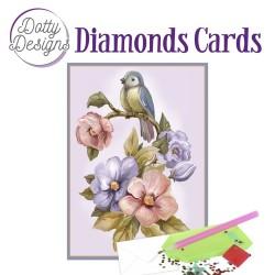 (DDDC1038)Dotty Designs Diamond Cards - Bird & Flower