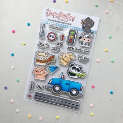 (T4T/657/Car/Cle)Time For Tea Car Critters Clear Stamps