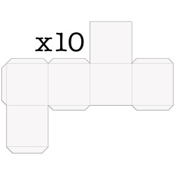 (ACC-CA-31160-XX)PACK OF 10 CUBE BOXES