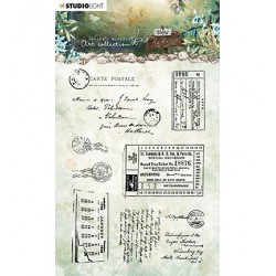 (JMA-NA-STAMP20)Studio Light JMA Clear Stamp Postcards & tickets New Awakening nr.20