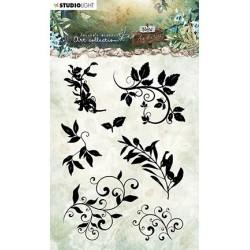 (JMA-NA-STAMP21)Studio Light JMA Clear Stamp Silhouettes - leaves/swirls New Awakening nr.21