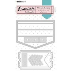 (SL-PES-CD09)Studio Light SL Cutting Die Label pocket Planner Essentials nr.09