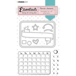 (SL-PES-CD01)Studio Light SL Stamp & Cutting Die Monthly calendar Planner Essentials nr.01