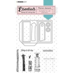 (SL-PES-CD02)Studio Light SL Stamp & Cutting Die Planner elements Planner Essentials nr.02