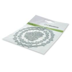 (115633/0442)CraftEmotions Die - Wreath stars Card 11x9cm 7,3cm
