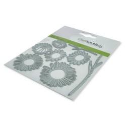 (115633/0447)CraftEmotions Die - dried flowers 3D Card 11x9cm