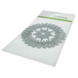 (115633/0533)CraftEmotions Die - frame round Cristal shine Card 10,5x14,8cm 10,5cm
