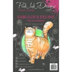 (PI108)Pink Ink Designs Clear stamp set Fabulous feline