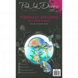 (PI115)Pink Ink Designs Clear stamp set Toadally amazing