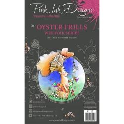 (PI117)Pink Ink Designs Clear stamp set Oyster frills