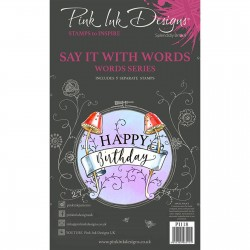 (PI118)Pink Ink Designs Clear stamp set Say it with words
