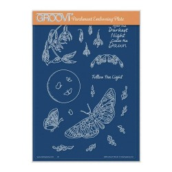 (GRO-AN-41746-04)Groovi Plate A5 CHERRY'S AFTER THE DARKEST NIGHT MONTAGE ELEMENTS