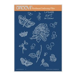 (GRO-AN-41745-04)Groovi Plate A5 CHERRY'S CREATE ART IN COLOUR MONTAGE ELEMENTS A5