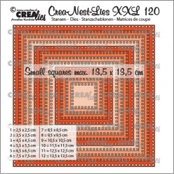 (CLNestXXL120)Crealies Crea-nest-dies XXL Squares with square holes