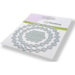 (115633/0441)CraftEmotions Die - wreath hearts Card 11x9cm 10cm