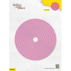 (MFD147)Nellie's Choice Multi Frame Die - Double stitchlines Round