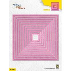 (MFD148)Nellie's Multi frame Double stitchlines: Square