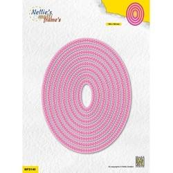 (MFD149)Nellie's Multi frame Double stitchlines: Oval