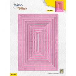 (MFD150)Nellie's Multi frame Double stitchlines: Rectangle