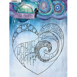 (JL-MM-STAMP44)Studio Light JL Clear stamp Big heart Mindful Moodling nr.44