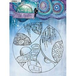 (JL-MM-STAMP45)Studio Light JL Clear stamp Big circle Mindful Moodling nr.45