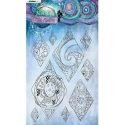 (JL-MM-STAMP50)Studio Light JL Clear stamp Diamond moodles Mindful Moodling nr.50
