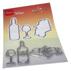 (HT1665)Clear stamp Hetty's wine