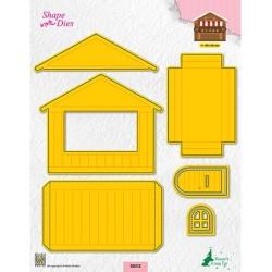 (SD212)Nellie's shape dies Christmas house