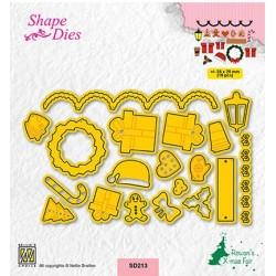 (SD213)Nellie's shape dies Christmas fiddles-2