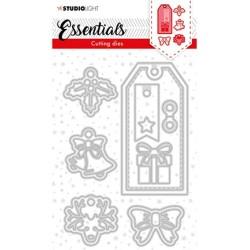 (SL-ES-CD63)Studio Light SL Cutting Die Christmas Label Essentials nr.63