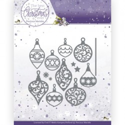 (PM10211)Dies - Precious Marieke - The Best Christmas Ever - Bunch of Christmas Baubles
