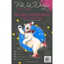 (PI119)Pink Ink Designs Clear stamp set Beary christmas