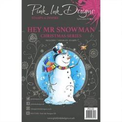 (PI122)Pink Ink Designs Clear stamp set Hey mr snowman