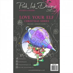 (PI123)Pink Ink Designs Clear stamp set Love your elf