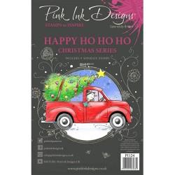 (PI124)Pink Ink Designs Clear stamp set Happy ho ho ho