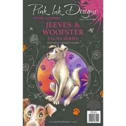 (PI101)Pink Ink Designs Clear stamp set Jeeves & woofster