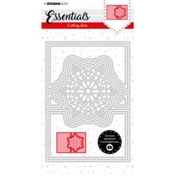 (SL-ES-CD71)Studio Light SL Cutting Die Christmas Card shape mini snowflake Essentials nr.71