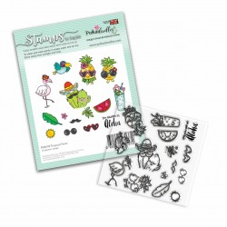 (PD8195)Polkadoodles Tropical Fever Clear Stamps