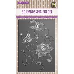 (EF3D027)Nellie's Choice Embossing folder Exotic flower